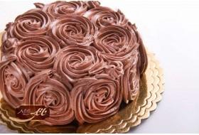 کیک شکلاتی مدل رز
