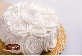 کیک وانیلی مدل رز