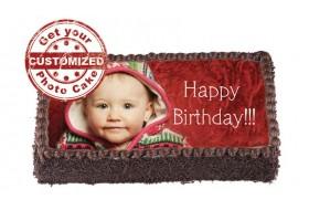 customized photo cake