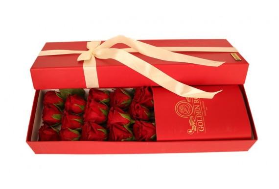 Golden red Rose