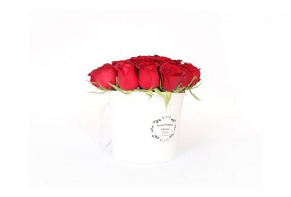 سطل گل رز سورپرایزپلازا-سفید