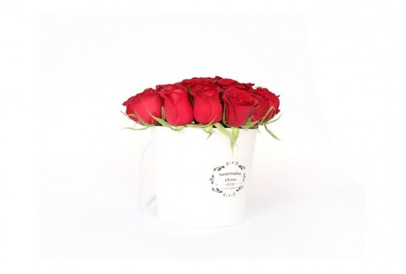 Surpriseplaza Rose Buckets-White