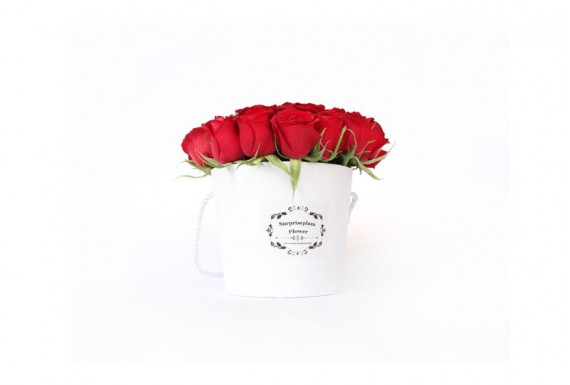 Surpriseplaza Rose Buckets-White