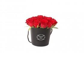 سطل گل رز سورپرایزپلازا-مشکی