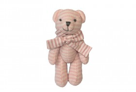 knitted Teddy Bear (Pink)