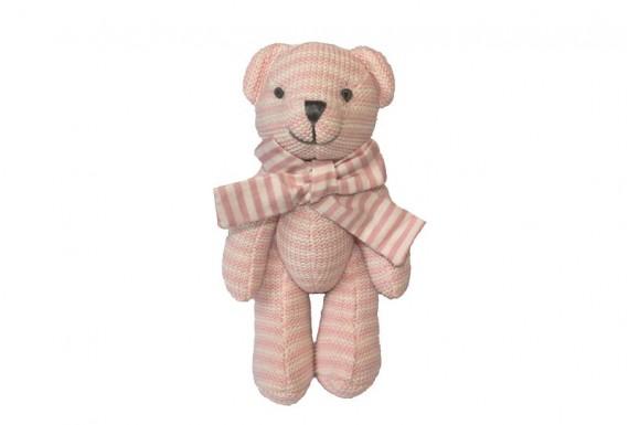 خرس عروسکی بافتنی (صورتی)