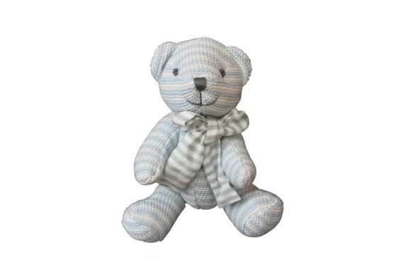 knitted Teddy Bear (Blue)
