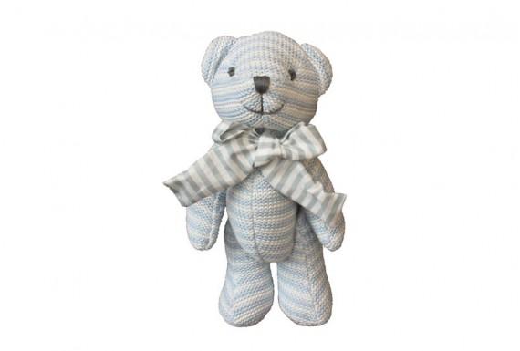 خرس عروسکی بافتنی (آبی)