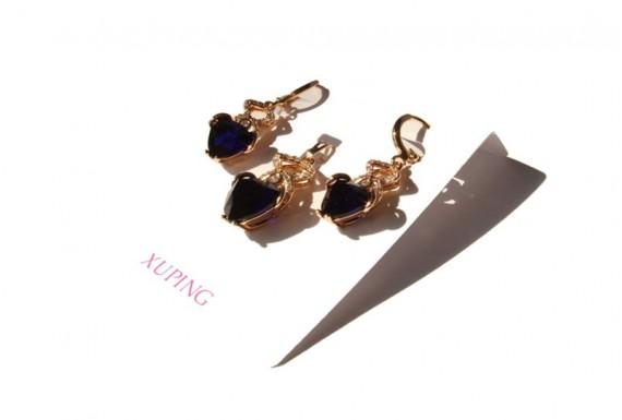 Sapphire Xuping Jewelry Set