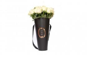 cone flower bucket - Black