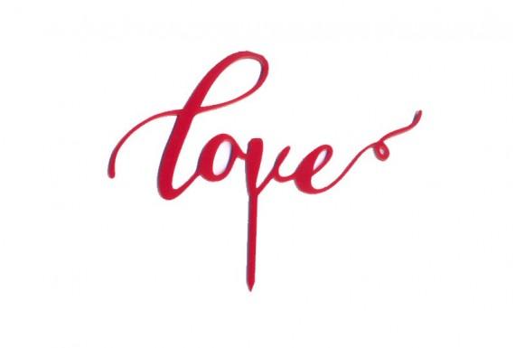 کیک تاپر مدل Love