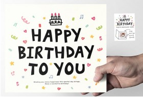 Photo Frame Happy Birthday card