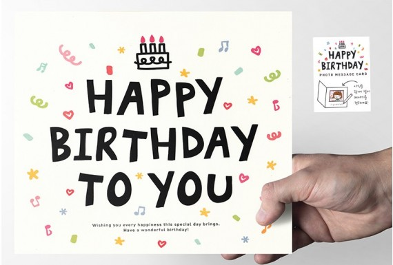 Photo Frame Happy Birthday card