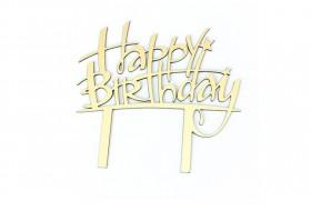 کیک تاپر تولدت مبارک مدل 1