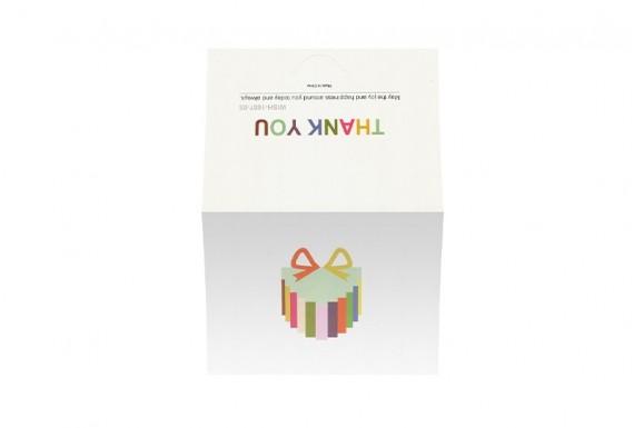 کارت تبریک سه بعدی مدل جعبه هدیه