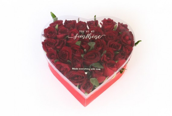 Standing Heart flower box