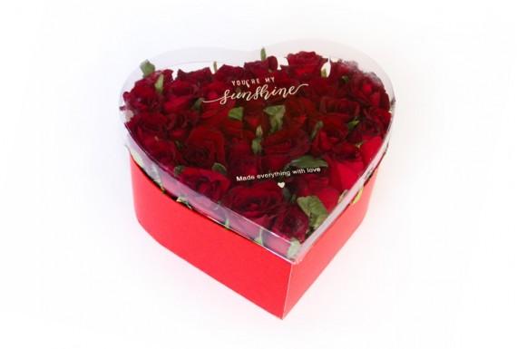 باکس گل قلبی مدل 1