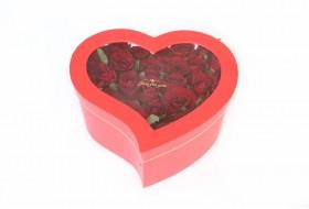 باکس گل قلبی مدل 2 - قرمز