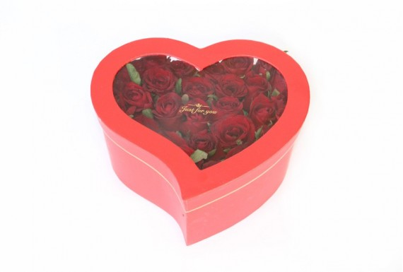 Heart Flower Box No.2 - Red
