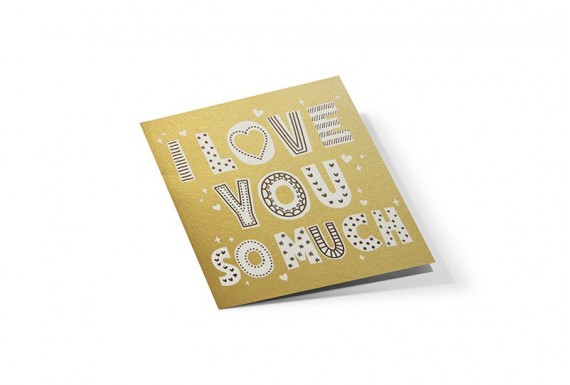 I Love You so Much greeting card