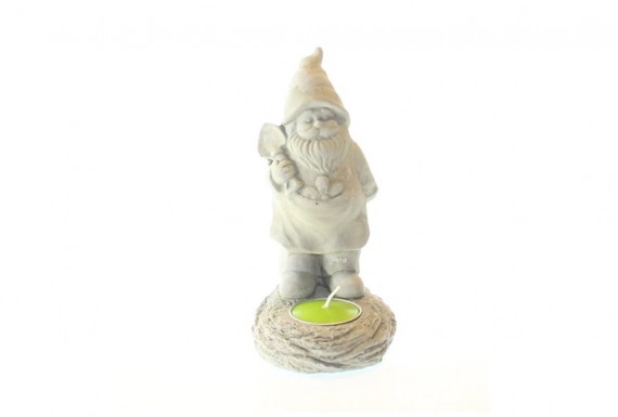 garden gnome candle holder