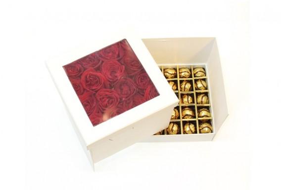 باکس گل رز و شکلات