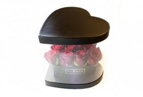 باکس گل طلق دار قلبی