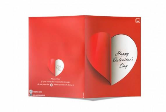 کارت تبریک ولنتاین با قابلیت ضبط صدا