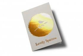 Lovely sparrow greeting card