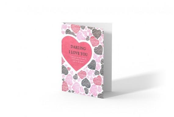 کارت تبریک Darling I love you