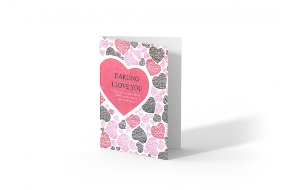 Darling I love u greeting card