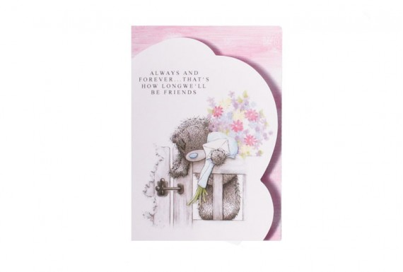 Teddy bear and the letter greeting card