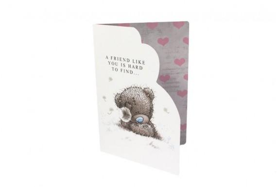 Teddy bear and dandelion greeting card