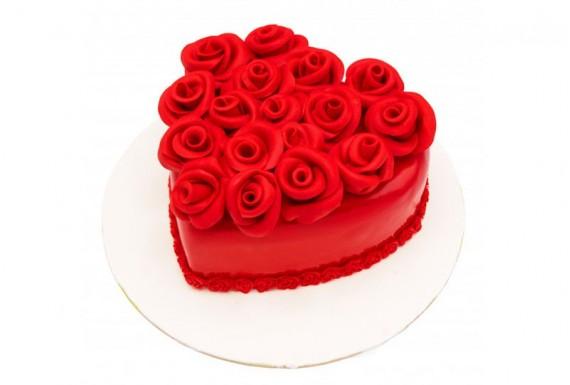 کیک قلبی رز (14 نفره)