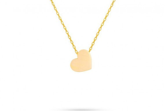 Gold heart necklace no 1