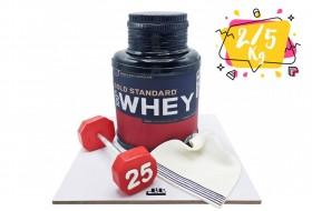 Bodybuilding birthday cake
