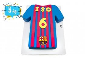 FC Barcelona shirt birthday cake