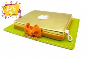 Apple laptop birthday cake