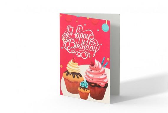 کارت تبریک تولد طرح کاپ کیک 1