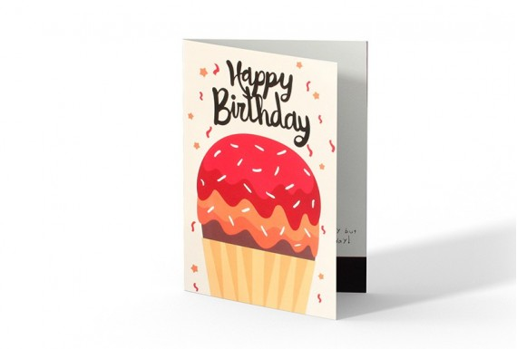 Cupcake happy birthday greeting card No.2