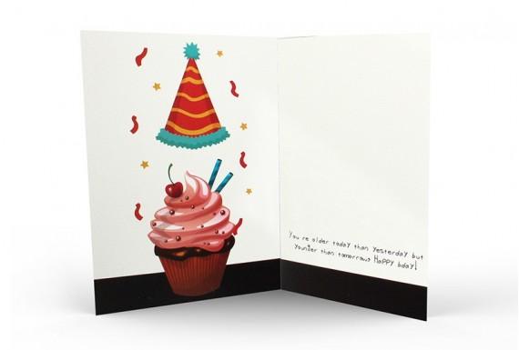 Cupcake happy birthday greeting card No.2