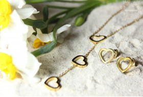 Stainless steel Heart shaped set No.3