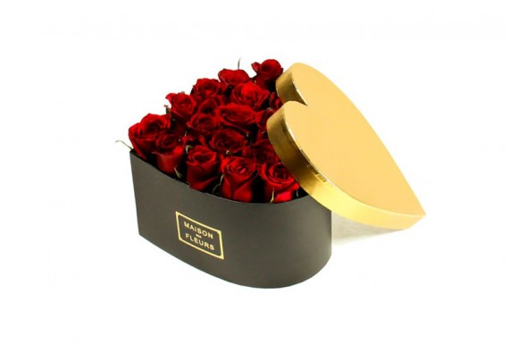 Maison heart rose box