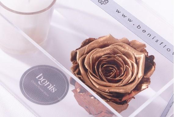 Eternal Golden Rose & Candle