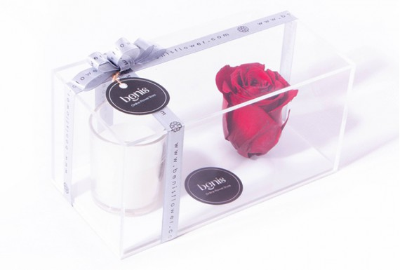 Eternal Red Rose & Candle