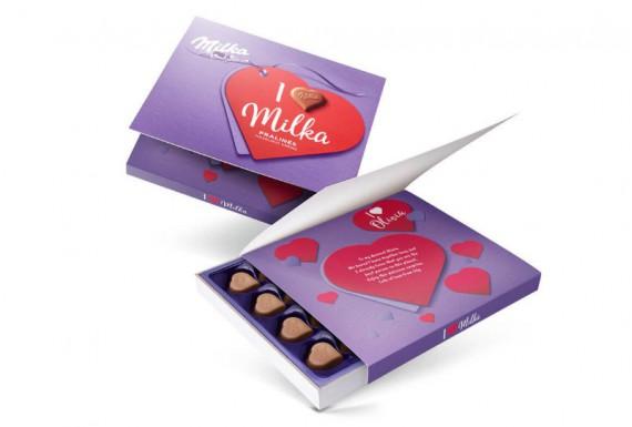 شکلات قلبی میلکا